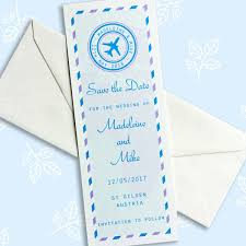 bookmark save the date travel ticket travel themed save the date bookmark the leaf press