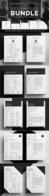 Resume Cv Bundle Black Collection By Bilmaw Creative On