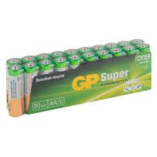 <b>Батарейка GP</b> Batteries Super <b>АА</b> пальчиковая LR6 1,5 В (20 шт ...