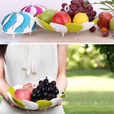How To Decorate Salad Tray Creative household items telescopic folding Salad fruit bowl Candy 93