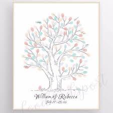 lianle canvas wedding fingerprint tree signature tree guest book thumbprint tree diy wedding party sign