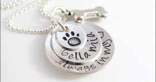 custom pet name necklace sterling
