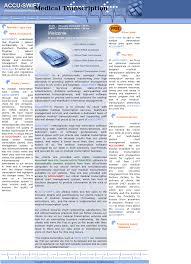 Accu Swift Medical Transcription Service Competitors