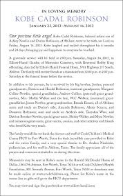 Sample Death Notice Template Obituary Of Infant Obituaries Letter
