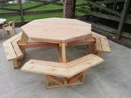hexagon patio table picnic