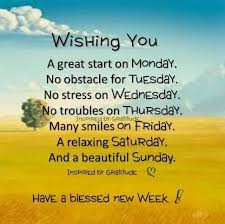Week Quotes Custom Wishing You A Great Start On Monday Have A Blessed New Week Monday
