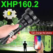 Cao Cấp XHP160.2 Đèn Pin Led Mạnh XHP 160 XHP90 USB Chiến Thuật Đèn Pin Sạc  18650 Săn Bắn Đèn Pin Đèn Lồng Đèn LED Flashlights