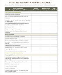 Event Checklist Template 13 Free Word Excel Pdf Documents