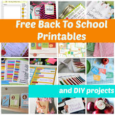 Free Diy Projects Free Back To School Ideas To Make Their First Day Special