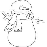 Template Of A Snowman Snowman Template Choose From 87 Free Snowman Outlines