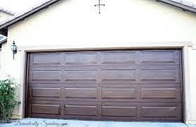 faux painting garage doors wood garage door glaze makeover completed faux painting aluminum garage doors