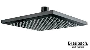 black shower head canada vivace matte round taps range home depot