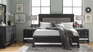panel bedroom set black q br