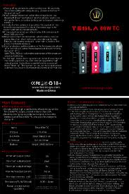 teslacigs two sub mod manual tesla 80w tc manual