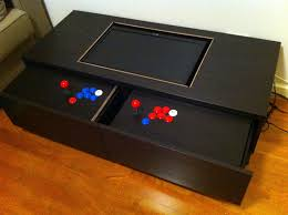 arcade control drawers extended
