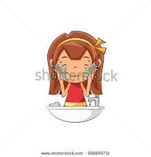 washing face clipart. Perfect Face Girl Washing Face And Washing Face Clipart P