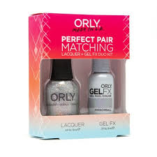 Orly Set Perfect Pair Lak A Gel Lak Na Nehty Gel Fx Mirrorball