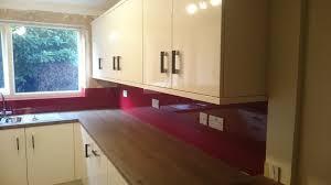 Glass Splashbacks Bathroom Walls Red Glass Splashbacks For Kitchens And Bathrooms