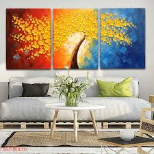 If you want to add an instant pop of color to your living room walls, then you can do that with paint chips. 3 Pieces Panel Wall Art Palette Knife Hand Painted Flower Oil Painting On Canvas Wall Pictures Paintin Colorful Oil Painting Panel Painting Canvas Wall Canvas