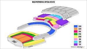 San Francisco War Memorial Opera House Seating Chart