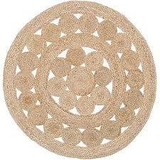 coastal round jute rug