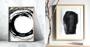 diy abstract wall art ideas for black and white modern
