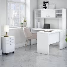 white l shaped desks