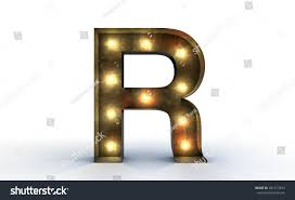 Vintage marquee light Q alphabet sign, typography isolated on white  background