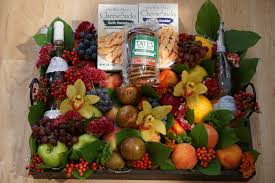 wine gourmet fruit basket