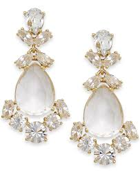 lyst kate spade crystal chandelier earrings white gold normal gallery vera three stone ring