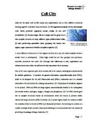 compare the structures of a cell to those of a city although vast page 1