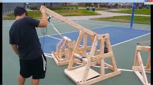 Trebuchet Catapult Design Plans Physics Catapult Project