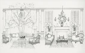 interior design drawings. Black And White Photocopy Interior Design Drawings N
