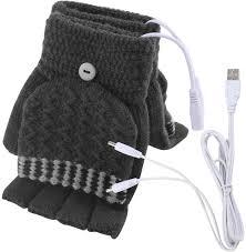 Unisex USB <b>Electric Heated Gloves</b> Winter Hands Warmer Knitting ...