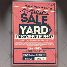 sale flyers yard sale flyer yardgarage sale premium flyer psd template psdmarket