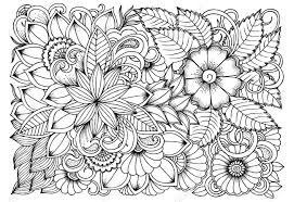 Pattern Drawing Beauteous Black And White Flower Pattern For Coloring Doodle Floral Drawing