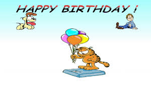 happy birthday from garfield
