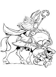 Kleurplaat Sinterklaas Zwarte Piet En Zijn Paard Trotseren De Gure