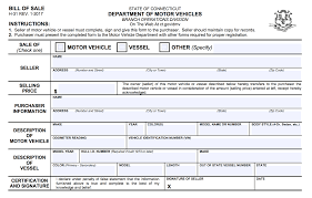 Automobile Bill Of Sale Form Free Connecticut Bill Of Sale Forms Pdf Eforms Free