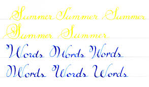 Summer Word List Celebrating A Year Of Calligraphy With A Summer Word List