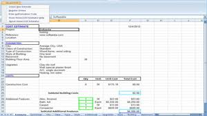 Home Construction Estimator Excel Review And Download Homecost Estimator Excel Based