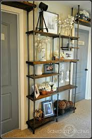 build an industrial shelf using pvc pipe sawdust 2 stitches on remodelaholic