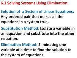 solution of a system of linear equations