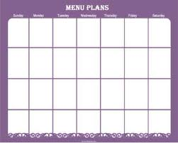 monthly meal planner template refrigerator magnet menu planner heart at home heart at home