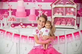 american girl doll dessert table