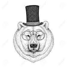 Cool Fashionable Polar Bear Image For Tattoo Emblem Badge