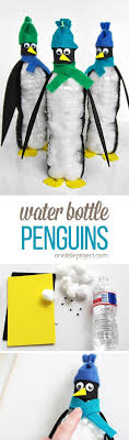 arts and crafts to do at home with toddlers. these water bottle penguins are so cute and really easy to make! what a arts crafts do at home with toddlers