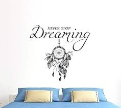 dreaming wall decals for bedroom i dream decor big wire never stop