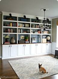 ideas for decorating built in shelves
