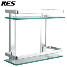 glass shower shelf bunnings through glass shower shelf brackets glass corner shower shelf with rail kes bathroom 2 tier glass shelf with rail aluminum and